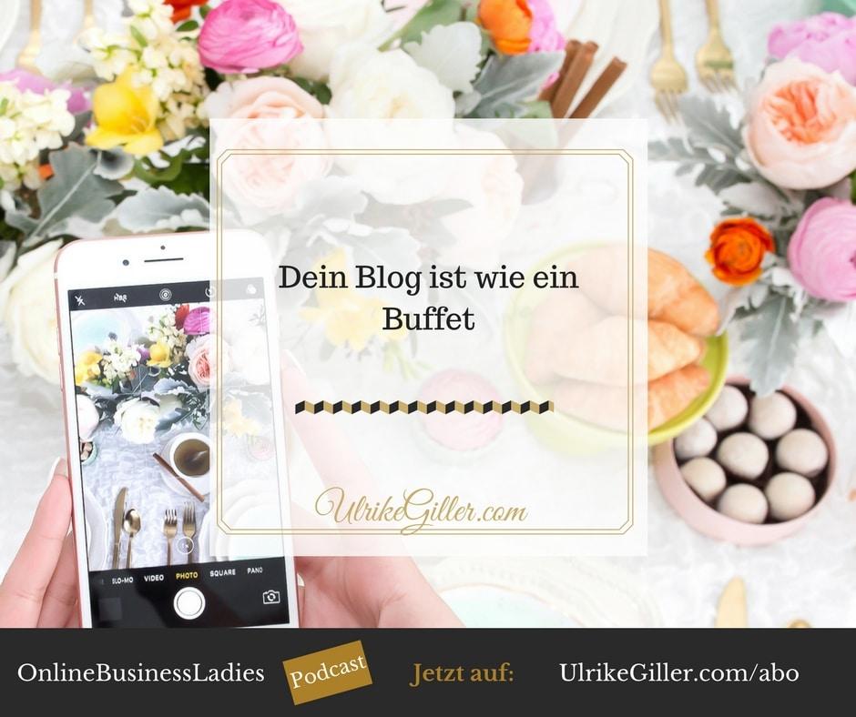 Dein Blog ist wie ein Buffet