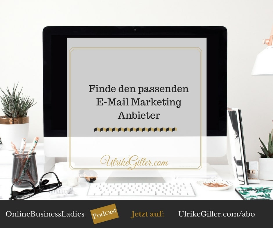 Finde den passenden E-Mail Marketing Anbieter