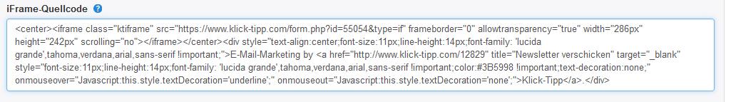 I_Frame_Quellcode