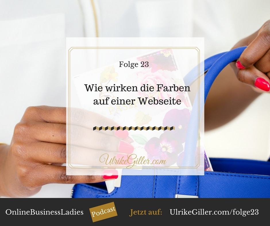 Wie wirken die Farben auf einer Webseite