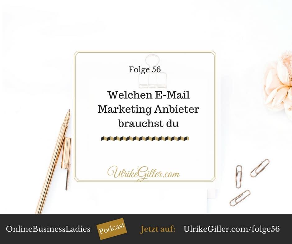 Welchen E-Mail Marketing Anbieter brauchst du?