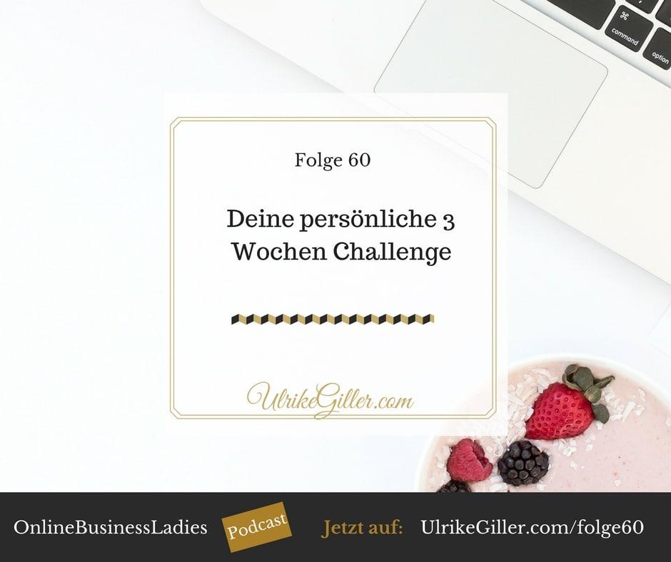 deine persönliche 3 Wochen Challenge