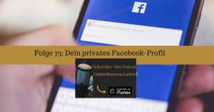 Dein privates Facebook-Profil