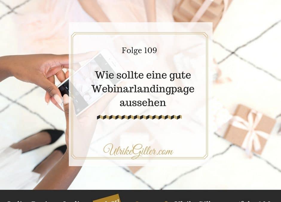Wie sollte eine gute Webinarlandingpage aussehen
