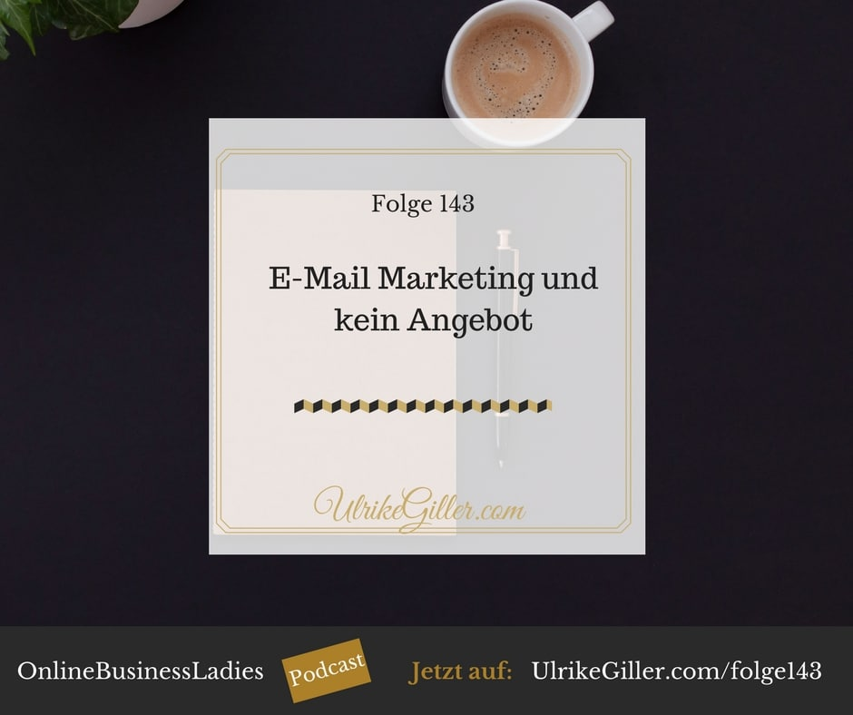 E-Mail Marketing und kein Angebot
