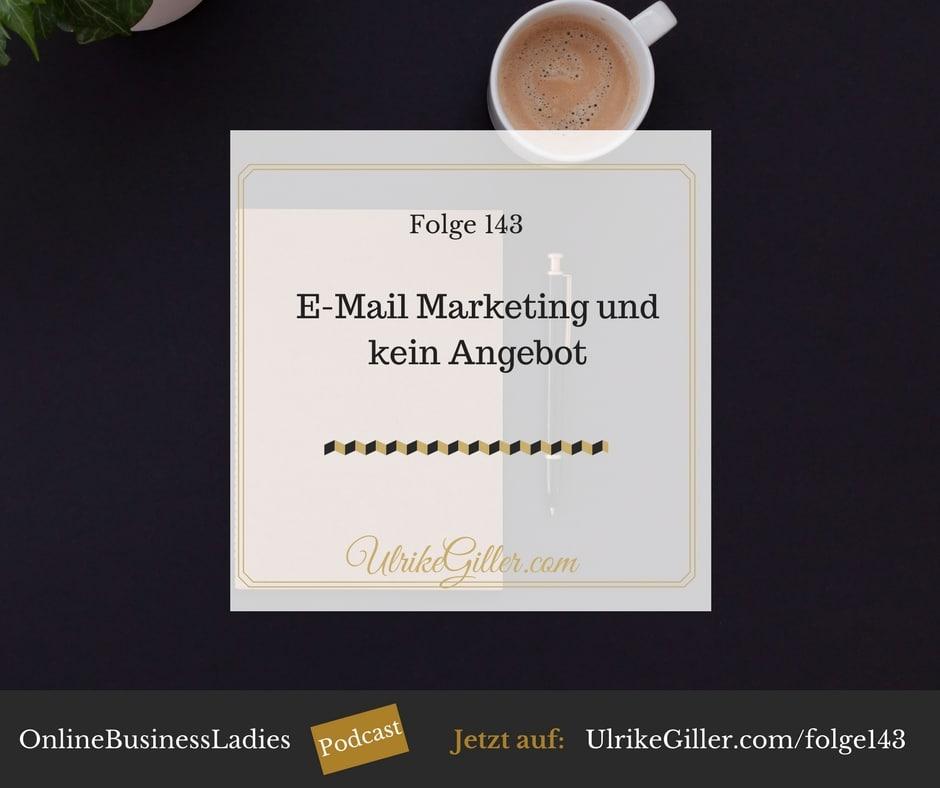 E-Mail Marketing und kein Angebot