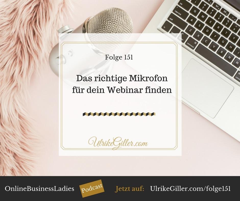 Das richtige Mikrofon für dein Webinar finden
