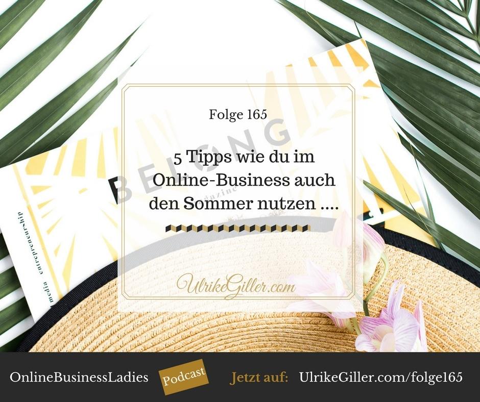 5 Tipps wie du im Online-Business auch den Sommer nutzen kannst