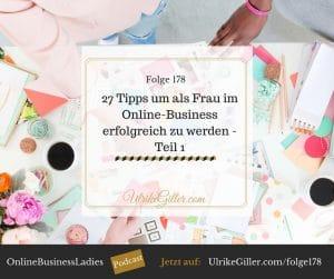27 Tipps um als Frau im Online-Business erfolgreich zu werden - Teil 1