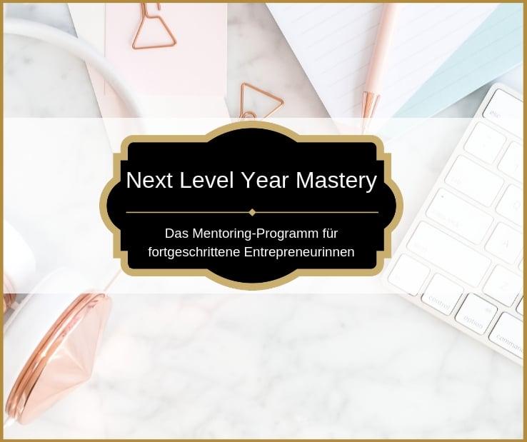Next Level Year das Mentoring-Programs für fortgeschrittene Entrepreneurinnen