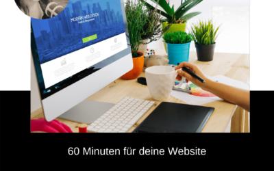 60 Minuten für deine Website